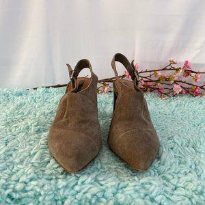 Tahari Taupe/Gray Slingback Pointed Heels SZ 7M